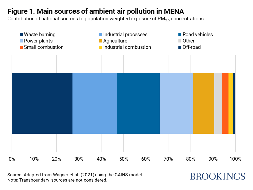 Figure 1. Main sources of ambient air pollution in MENA